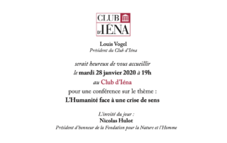 Invitation Club d'Iéna Nicolas Hulot